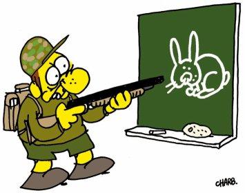 Savait vous ; Des chasseur a l'école ?