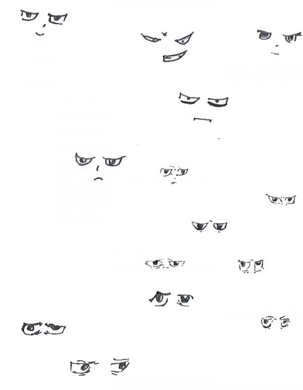 Training manga eyes - Entrainement des yeux Manga #2
