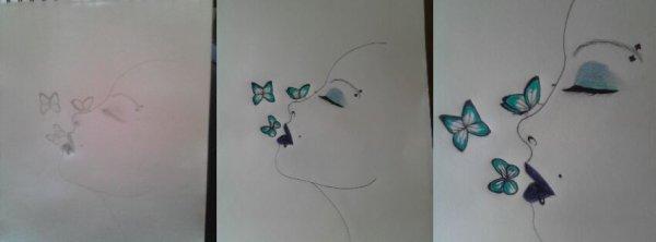 la femme papillon !