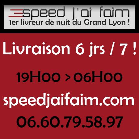 Speed j'ai faim - Livraison de repas la nuit dans tout le Grand Lyon !
