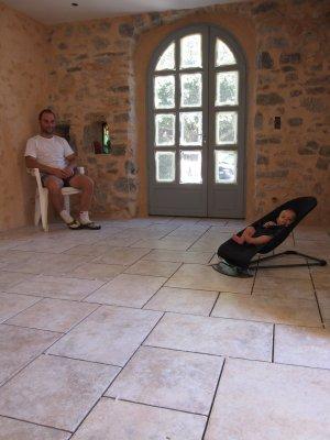 Carrelage opus romain du rez de chauss e l 39 aventure chapelle r novation d 39 une chapelle - Prix de la pose du carrelage au metre carre ...