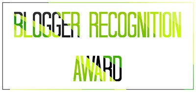 Tag #5 - Blogger Recognition Award