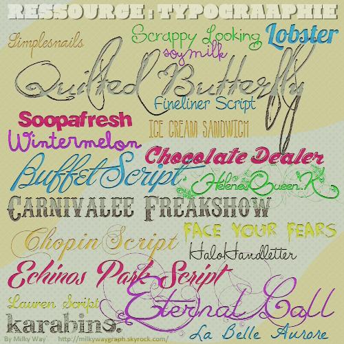 Ressource : typographie #2