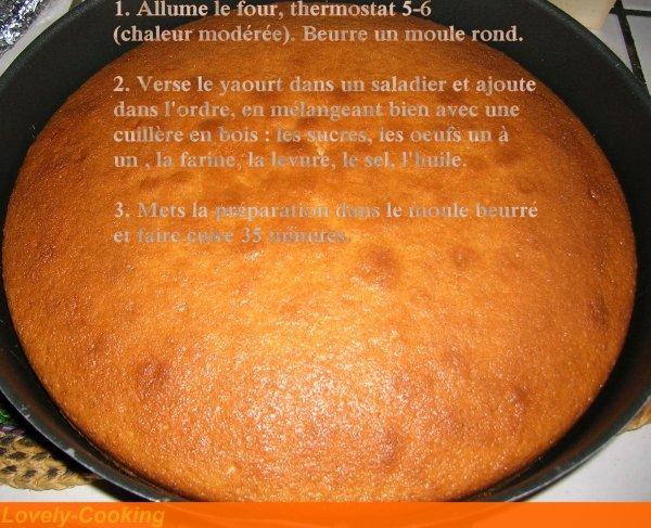 Le Gâteau au Yaourt ( Recette réalisée le 16/12/12 )