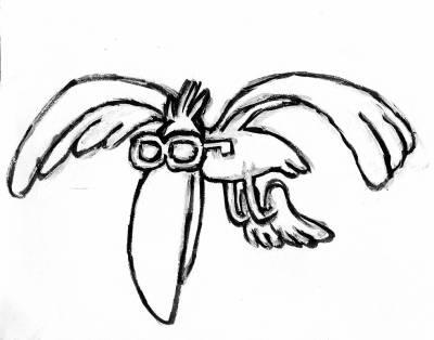 Encore un dessin de merde la migration des mouettes - Dessins de mouettes ...