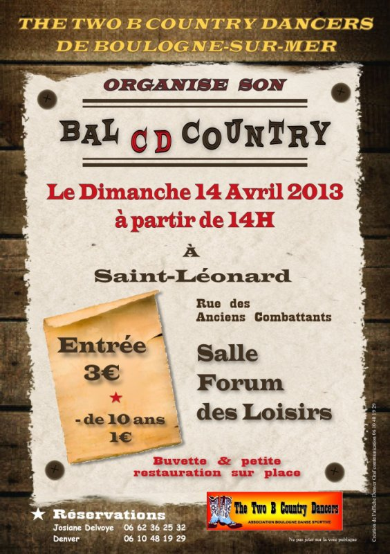Bal CD des Two B Country Dancers de Boulogne sur Mer (62)