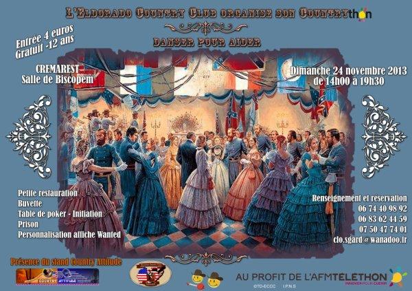 Bal country CD le 24 novembre 2013 au profit du Téléthon à Crémarest (62)
