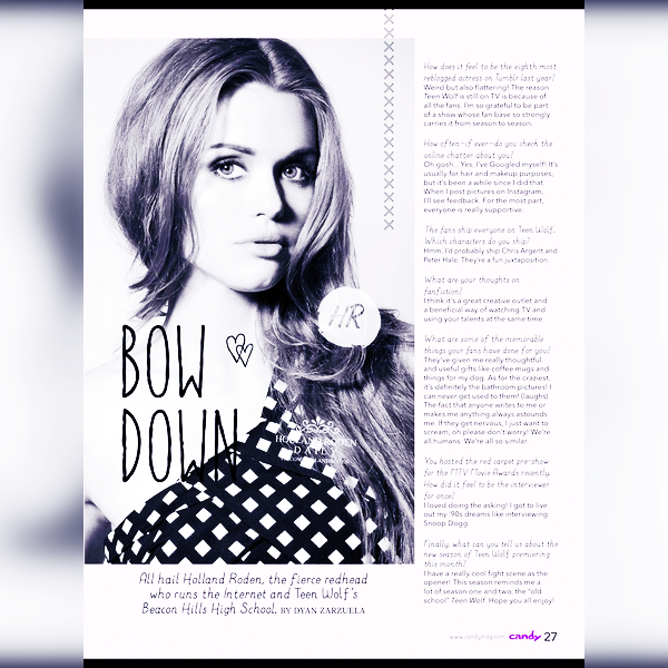 Magazines scans - FHM Magazine Espagne + Seventeen + Candy Magazine (2015).
