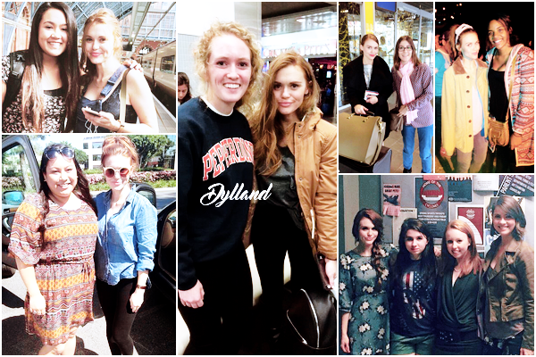 Holland Roden - Photos avec des fans.