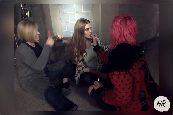 Teen Wolf - La belle sur le tournage de la saison 6B.