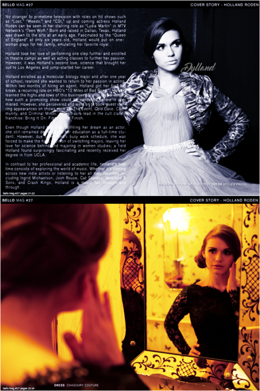 Holland Roden - Magazine Scans - Bello Magazine (2011).
