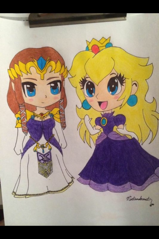 My Draw Zelda & Peach