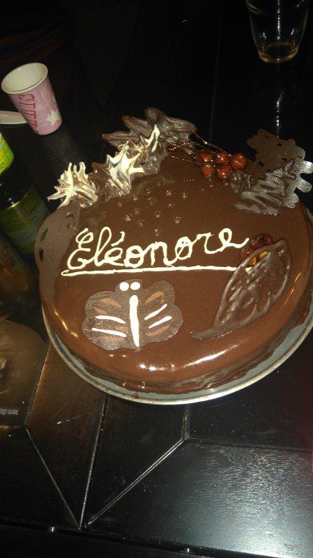 Gâteau chocolat caramel noisette