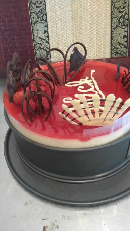 Gâteau framboise limoncello