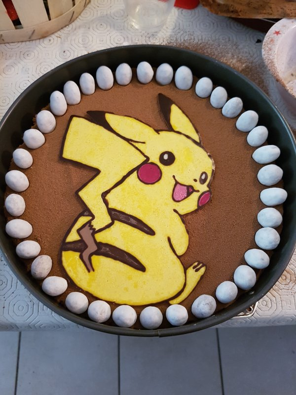 Pikachu au chocolat