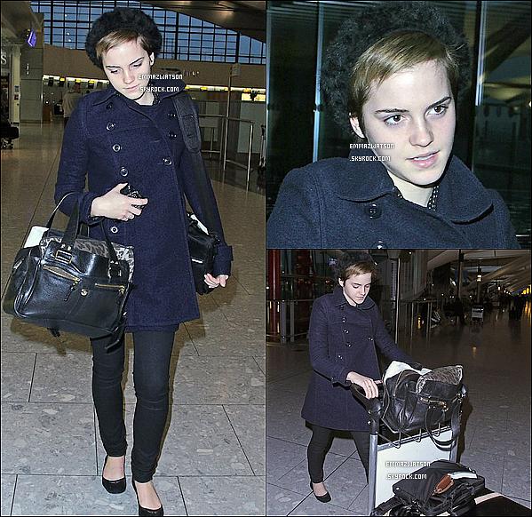 . 31/12/10X-Emma a était aperçu à l'aéroport d'Heathrow, partant pour Los Angeles, plus tôt dans la journée. .