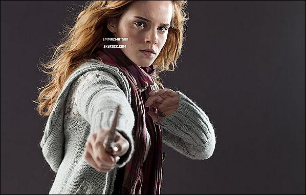 . Découvrez de nouvelles photos promotionelle de Hermione Granger via Harry Potter et les Reliques de la Mort. .