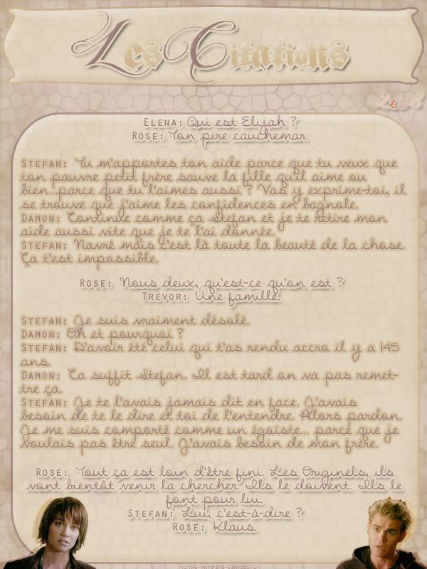 ● The-Vampire-Diariesx3.skyrock.com 2x08 Rose Création │ Décoration │Inspi Citations│Gifs│Newsletter
