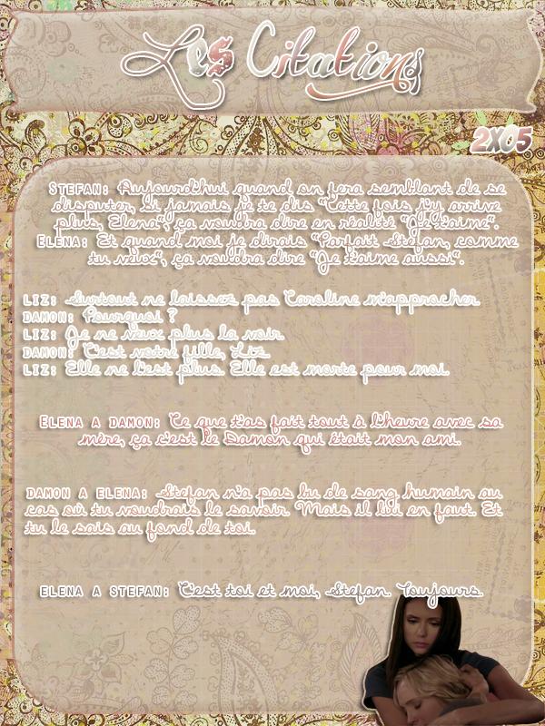 ● The-Vampire-Diariesx3.skyrock.com 2x05 La Meilleure Défense Création │ Décoration │Inspi Citations│Gifs│Newsletter