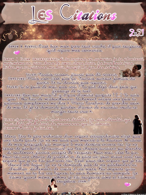 ● The-Vampire-Diariesx3.skyrock.com 2x21 Le Soleil Se Couche Création │ Décoration │Inspi Citations │Gifs│Newsletter