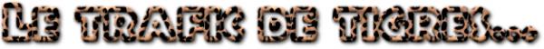 Le trafic de tigres.