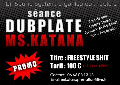 PROMO !!!! SCEANCE DUBPLATE FREESTYL SHIT