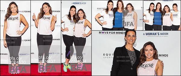 . 21/05/16- La miss Bethany Mota s'est rendu à un événement sportif, intituléMove For Minds- New York. Désolé pour les photos taguées(+)Côté Look:. Bethany avait une tenue assez sportive, j'aime vraiment beaucoup le t-shirt qu'elle porte, un top. .