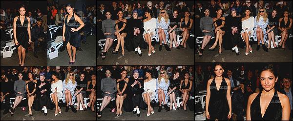 . 14/02/15- Bethany Mota toujours à la fashion week cette fois-ci pour Christian Siriano à - New York . (+) Côté Look:.Très sexy cette robe noire, j'aime beaucoup, ça la met assez en valeur je trouve. Je ne peux que lui accorder un beau petit top ! .