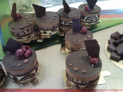 mousse chocolat coulis framboise