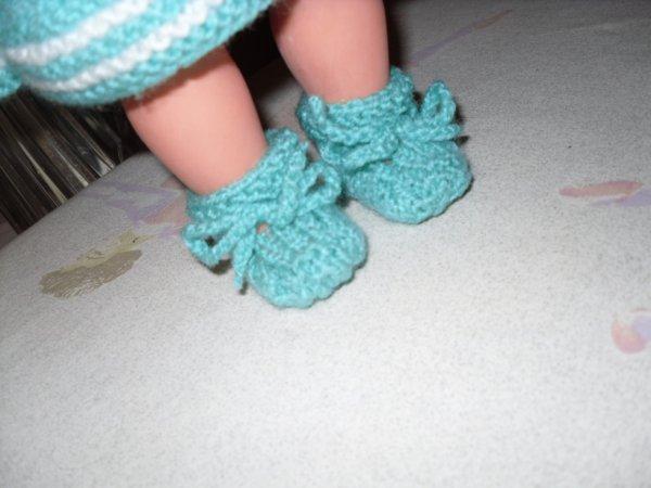 sans oublier les petits chaussons