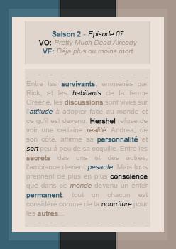 018: 2X07 - Pretty Much Dead Already • Création - Décoration