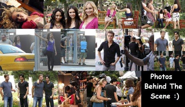Photos sur le tournage + Ian sur un tournage d'un clip et d'une publicité + Magazine