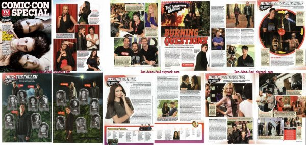 Saison 3 TVD + Paul & Torrey à LA + Photo coup de <3 + Scans Magazine