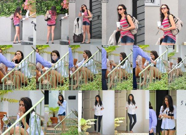 Nina prenant sa pause sur un shoot
