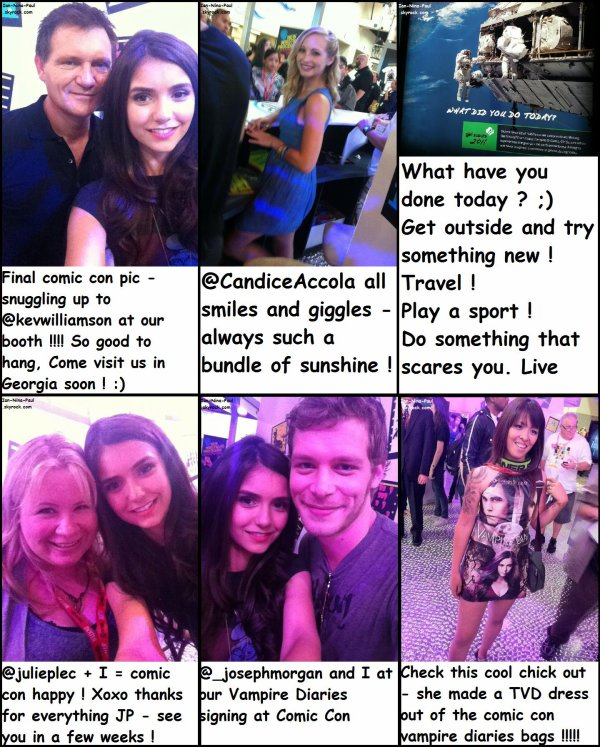 Twitter Nina + Paul quittant le Comic Con