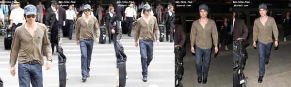 Ian à l'aéroport de Los Angeles + Photoshoot Ian + Nouveaux Posters de la CW