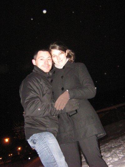 Les amoureux dans la neige