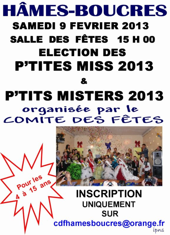 ELECTION P'TITES MISS et P'TITS MISTERS 2013