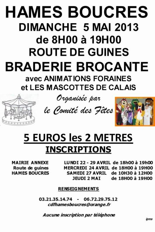 BRADERIE BROCANTE ROUTE DE GUINES