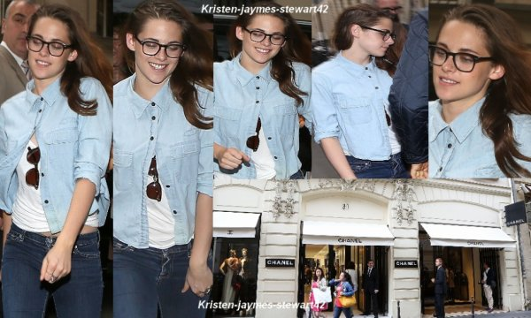 03/07/13 Kristen visite la boutique CHANEL