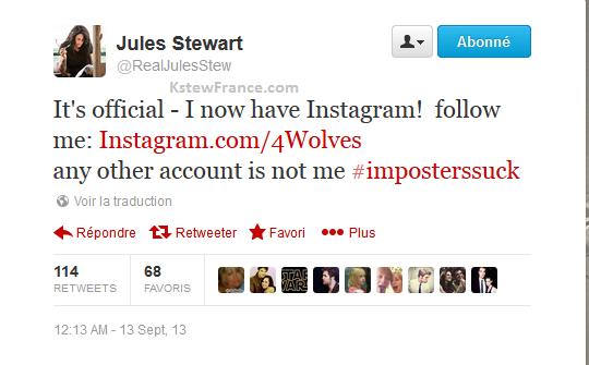 Jules Stewart (maman de Kristen) a désormais un compte Instagram