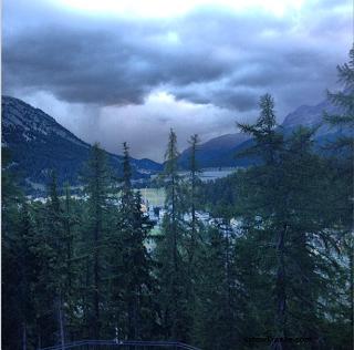 Sils Maria : Chloé Moretz tweet une vidéo du tournage et son Frère une photo des Alpes Suisse