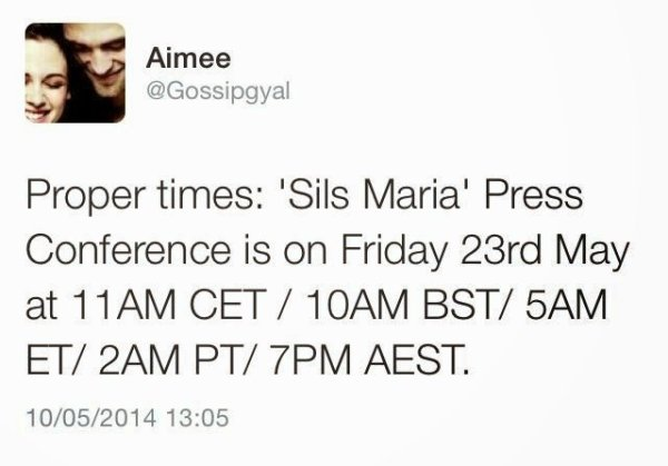 Clouds Of Sils Maria : date et horaire de la conférence de presse dufilm à Cannes