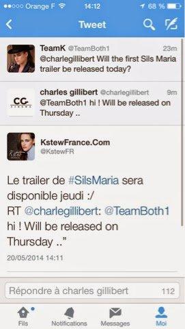 Le trailer de sils Maria sera disponible jeudi