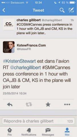 Kristen Stewart arrivera dans la journée à Cannes