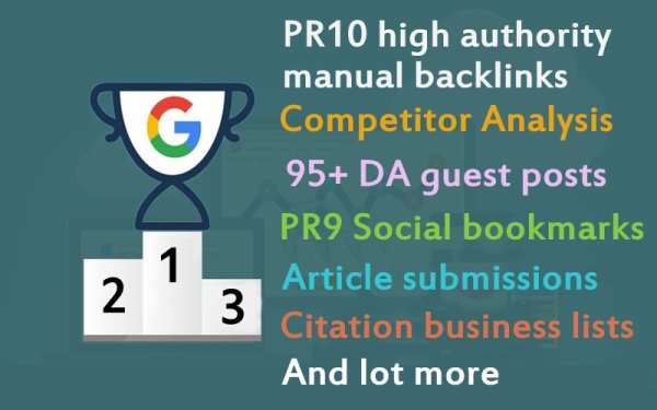 Manual High Authority Pr10 SEO Backlinks Google Ranking Campaign