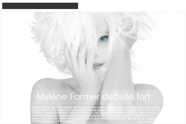 Chart FR: 17/12/2012 - Mylène Farmer débute fort
