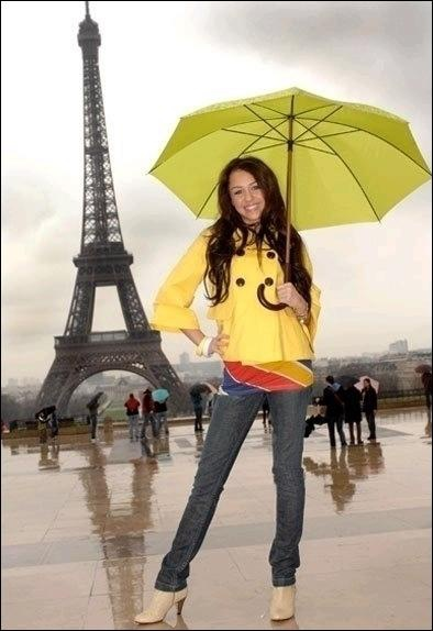 Miley a Paris !
