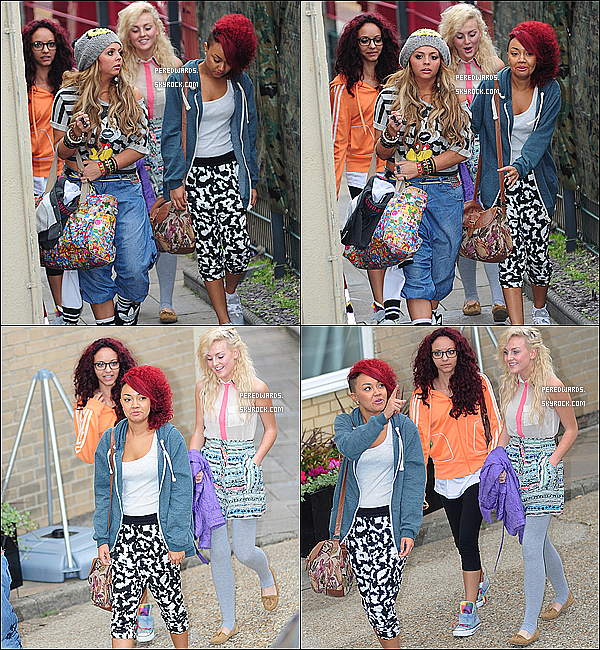 . Le 13 octobre 2011 ~ Les Little Mix arrivaient aux studios de x Factor à Londres..