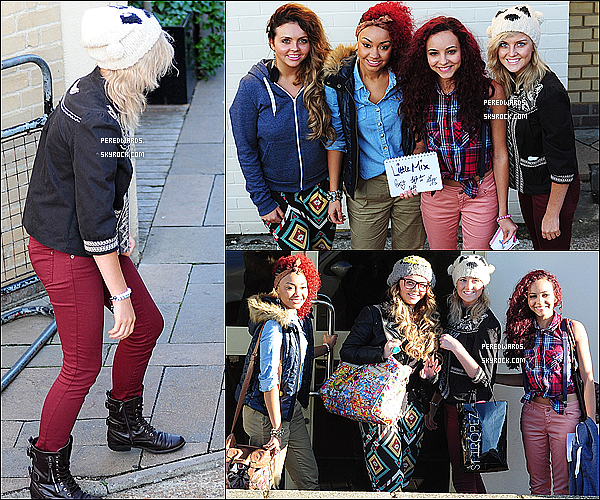 . Le 28 octobre 2011 ~ Les Little Mix arrivaient aux studios de x Factor à Londres..